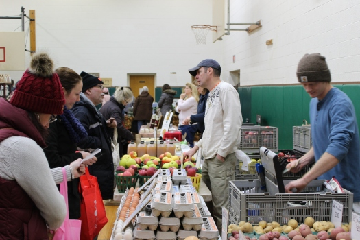 Shoppers at the Brighton Winter Farmers Market